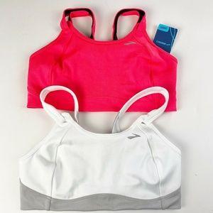 Brooks Fiona Sports Bra LOT of 2 Size 36DD Pink &